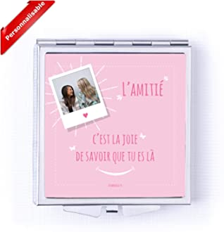 Miroir de poche en m/étal style Pop Art cadeau ORIGINAL ATOMANIA Moins sage que mon image !