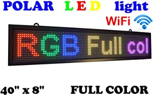 """WiFi LED Sign Full Color Sign 40"""" x 8"""" with high Resolution P10 and New SMD Technology. Perfect Solution for Advertising"""