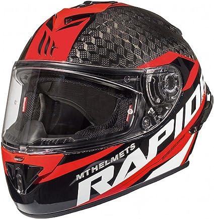 Amazon.es: MT Rapide Pro Carbon - Casco de moto (carbono), color rojo