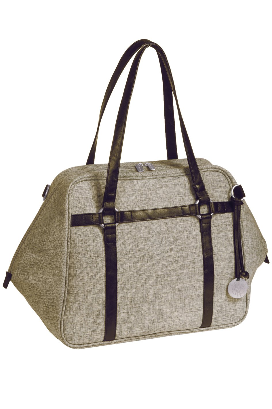 choco m/élange L/ässig Green Label Urban Bag Wickeltasche mit verstellbarem Schultergurt inkl Wickelzubeh/ör