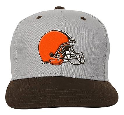 d9a8c511b Outerstuff NFL Youth Boys Team Flatbrim Snapback Hat-Brown Suede-1 Size,  Cleveland