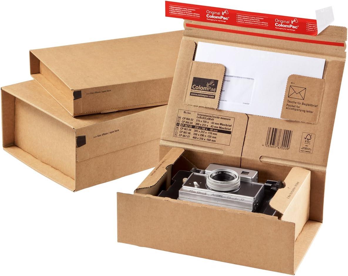 ColomPac CP067.07 - Caja para envío de paquetería (cartón, 460 x 310 x 160 mm, autocierre), color marrón: Amazon.es: Electrónica