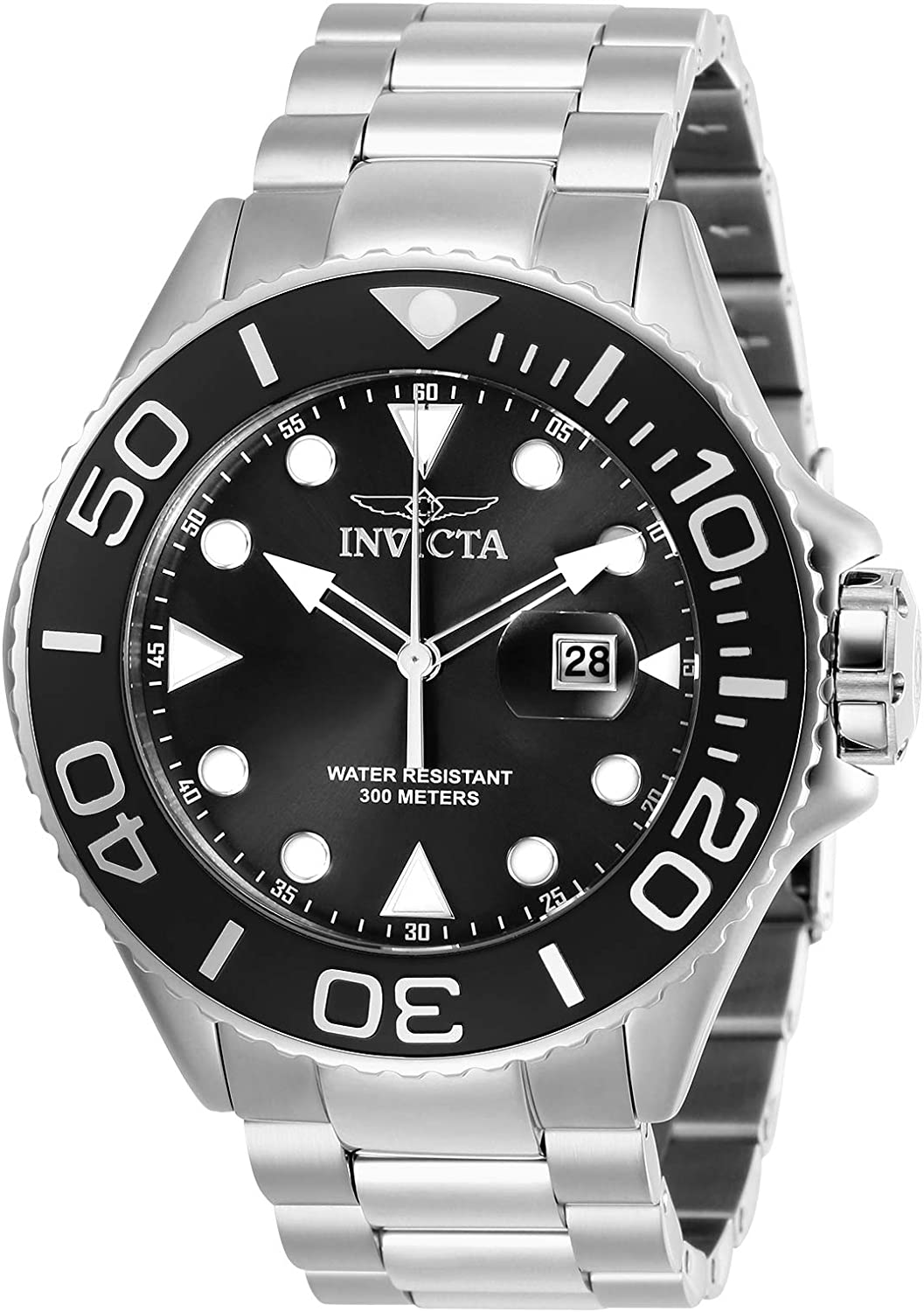 Invicta Men s Pro Diver Quartz Diving Watch with Stainless-Steel Strap, Silver, 24 Model 28765