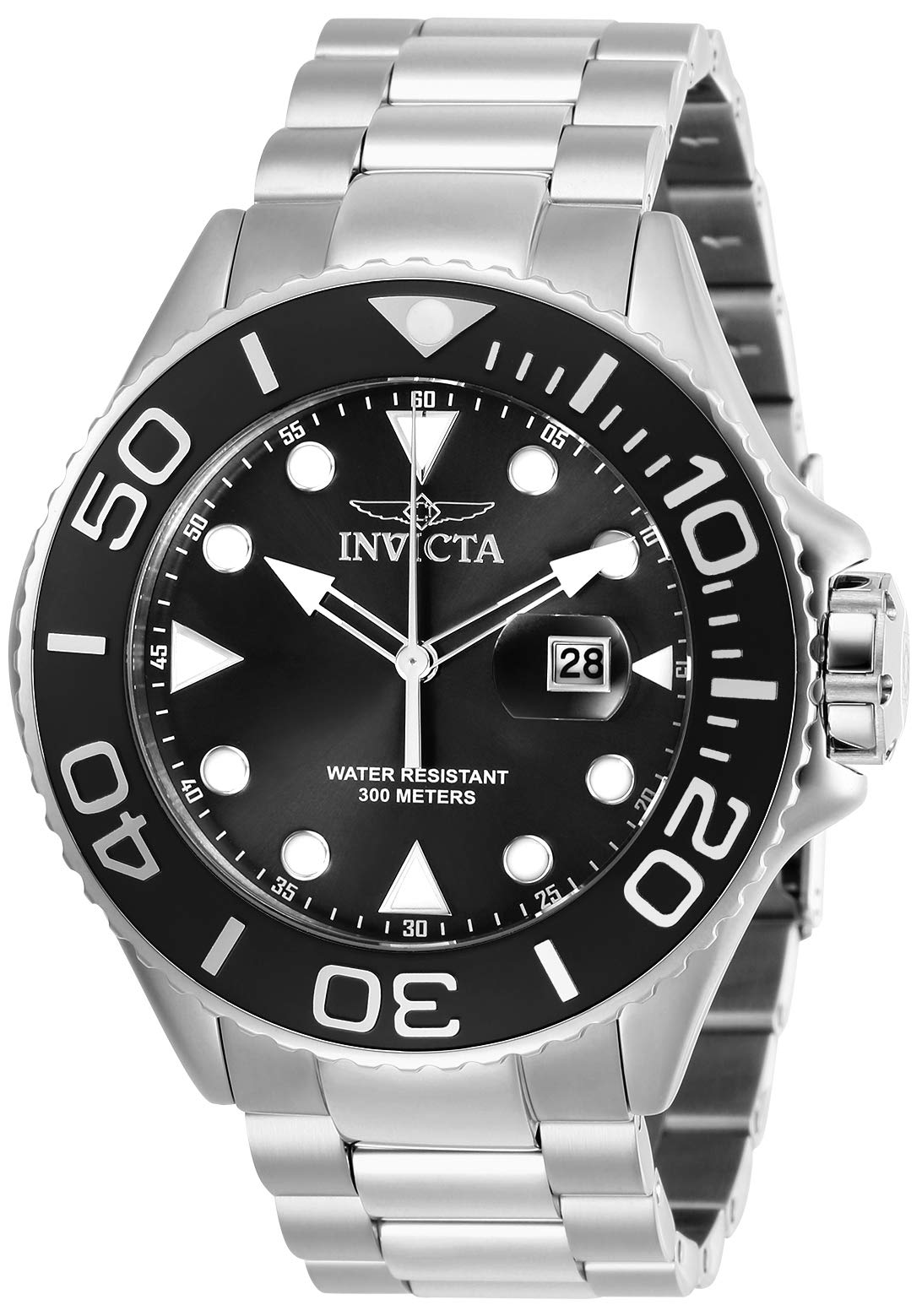 Invicta Men's Pro Diver Quartz Diving Watch with Stainless-Steel Strap, Silver, 24 (Model: 28765)