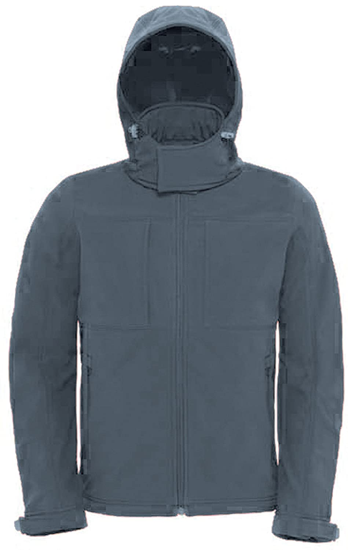 e25cfd85be9a Dark Grey SOUL REBEL Softshell Jacket Men340 g m²Men Hooded L  nuqgka7236-Softshell Jackets