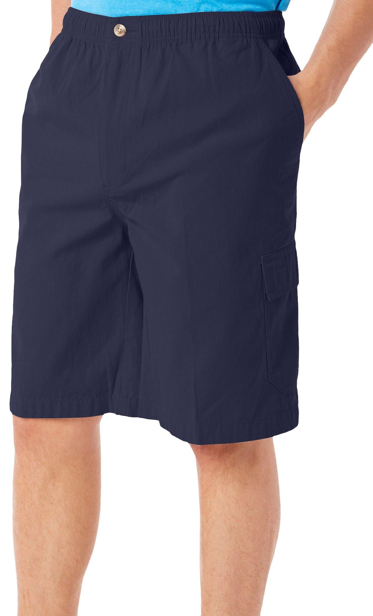 Windham Pointe Mens Elastic Waist Cargo Shorts X-Large Peacoat Navy Blue