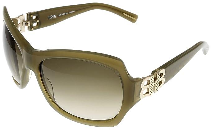 a85f08442643 Hugo Boss Sunglasses Womens 0023/S SHMDB Olive: Amazon.co.uk: Clothing