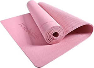 1/4-Inch Thick Yoga Mat - Eco Friendly TPE with Carrying Strap, Yoga Mat Non Slip, 72x24 Inches for Pilates Fitness Floor Exercise Workouts Mat