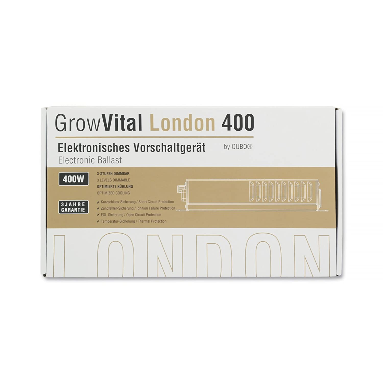 GrowVital/® London Alimentatore Elettronico 400W // Ballast HPS MH Grow Vegetativo Fioritura Dimmerabile