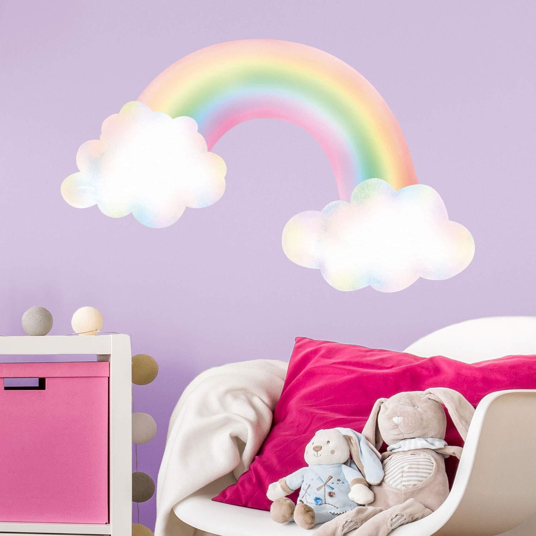 RAINBOW HEARTS big wall stickers 29 vinyl decals room decor colorful teen dorm