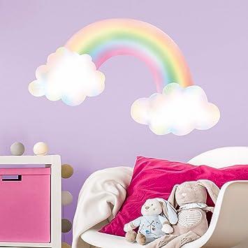 Watercolour rainbow wall stickerGirls room décorWall decals