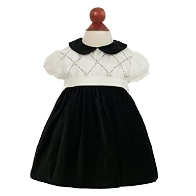 8f1380579 Carriage Boutique Baby Girl's Fancy Holiday Dress - Audrey Hepburn Black &  White, ...