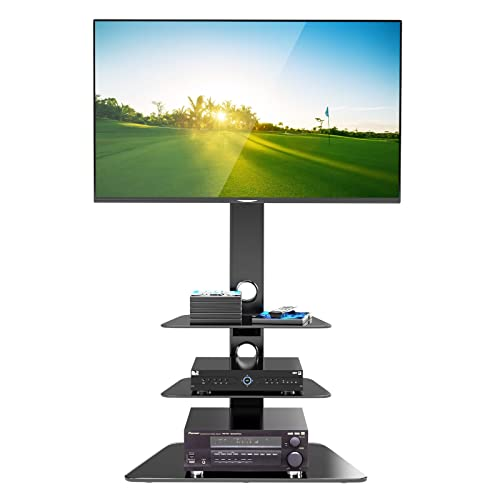 1home Base de Vidrio con Cantilever y Soporte Giratorio para TV de Plasma/LCD de 30-55 Pulgadas