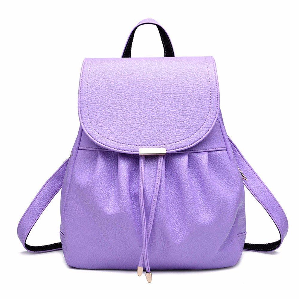 2069f9e329fe MSZYZ Ladies bag ladies backpack casual bag,Violet 85%OFF - b-u-t.co.za