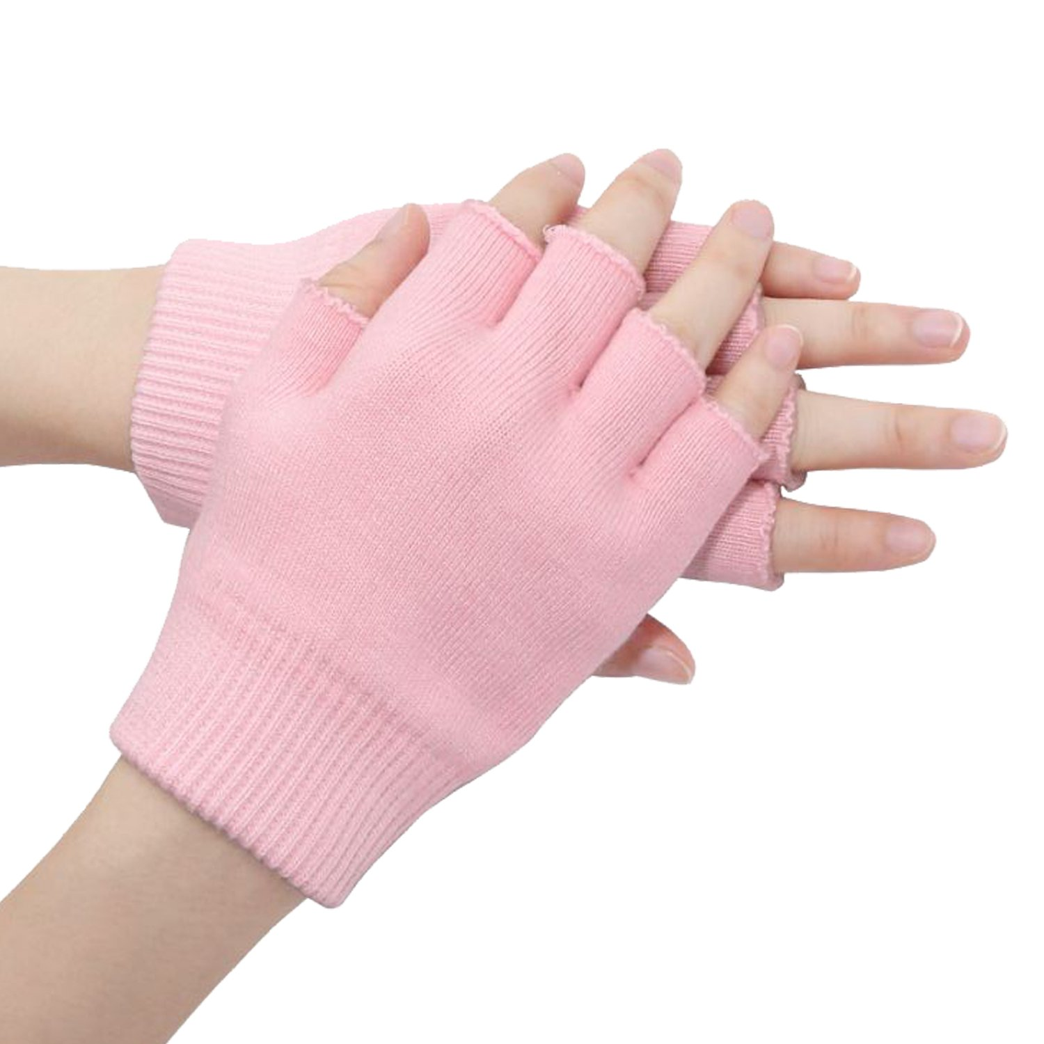 Galaxy Beauty Moisture Pink Gel Gloves Moisturizing Spa Treatment Hand Mask Cracked Skin Care Soft Repair Open Fingers Style ATA