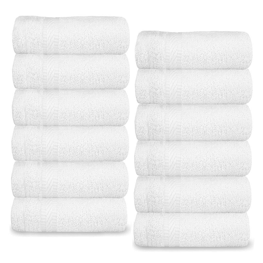 AmboxコットンWashcloths、12パックExtraソフト面タオル高吸水性Square指先タオル多目的Wash Cloths in Bulk for Bath、オフィス、ジム、ホテル、Spa、バー、キッチン、13