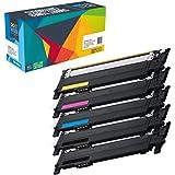 5 Cartucce toner Do it Wiser ® Compatibile per Samsung CLT-P404C Xpress SL-C430W SL-C480FW SL-C480W SL-C480FN SL-C430 SL-C480