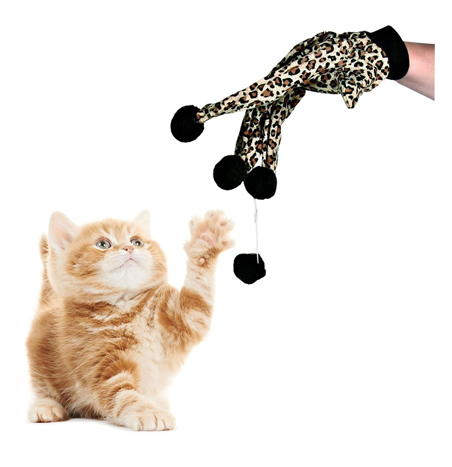 high-quality Cat and Owner Have Fun Glove Cat Scratcher Cat Dog Teaser Pet  Kitten Ball Toy