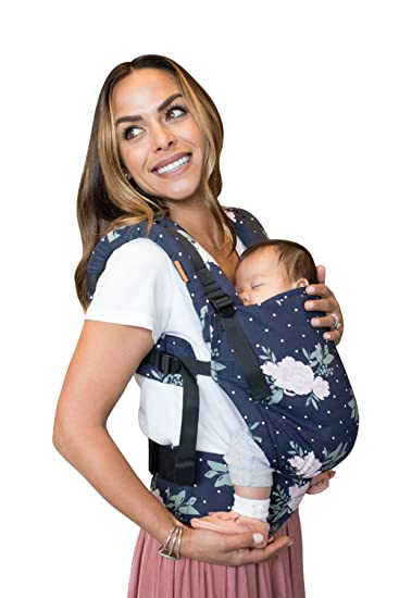 d1c391afef5c Amazon.com   Tula Ergonomic Carrier - Blossom, Navy Pink, Free To Grow    Baby