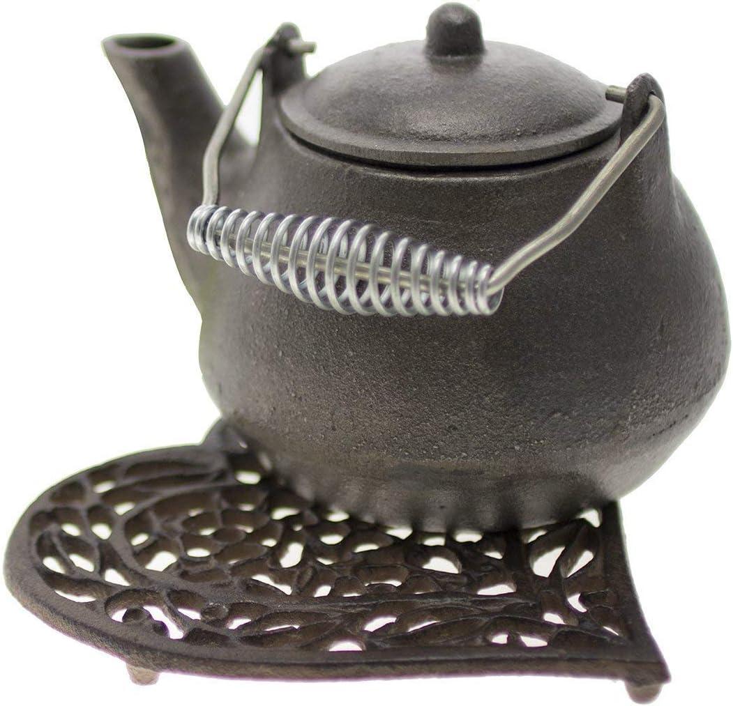 TOMYEER Dessous de Plat d/écoratif en Fonte en Forme de c/œur pour Cuisine ou Table de Salle /à Manger