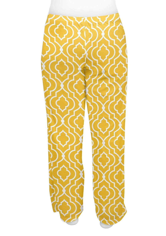 RNK Shops Trellis Womens Pajama Pants Personalized L Yellow