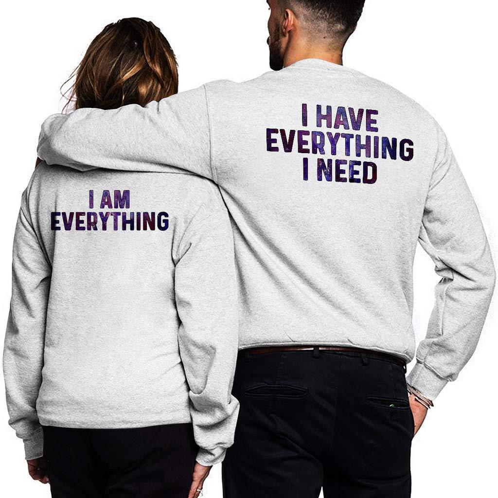 Funny Vintage Trending Awesome Couples Shirt Unisex Style Sweatshirt SMLBOO I Have Everything I Need Back Printing