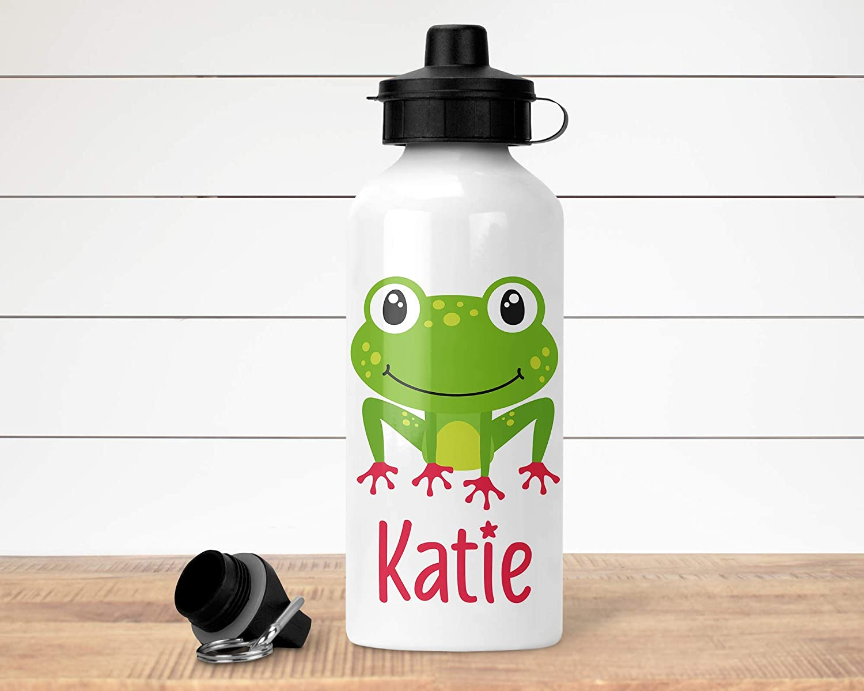 Suitable for Children Child Drinks Bottle Personalised Water Bottle Frog Themed Kids