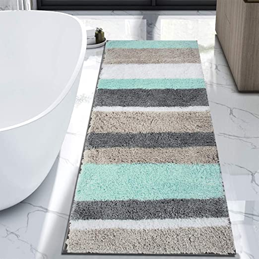 Amazon Com Hebe Extra Long Bath Rug Runner For Bathroom Extra