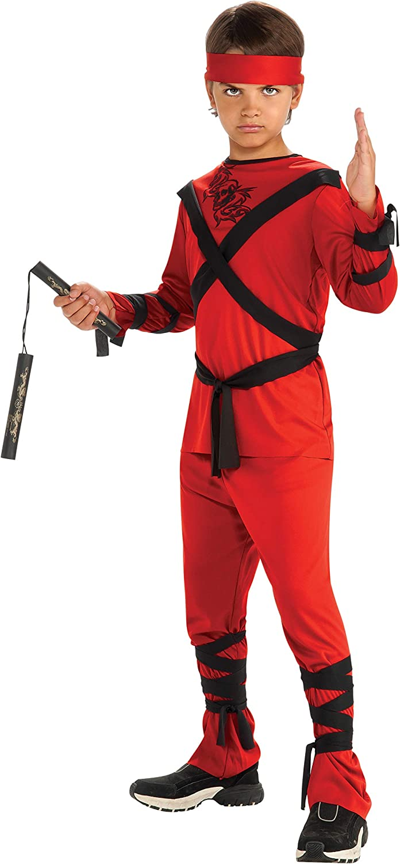 Rubies Red Ninja Childs Costume, Small