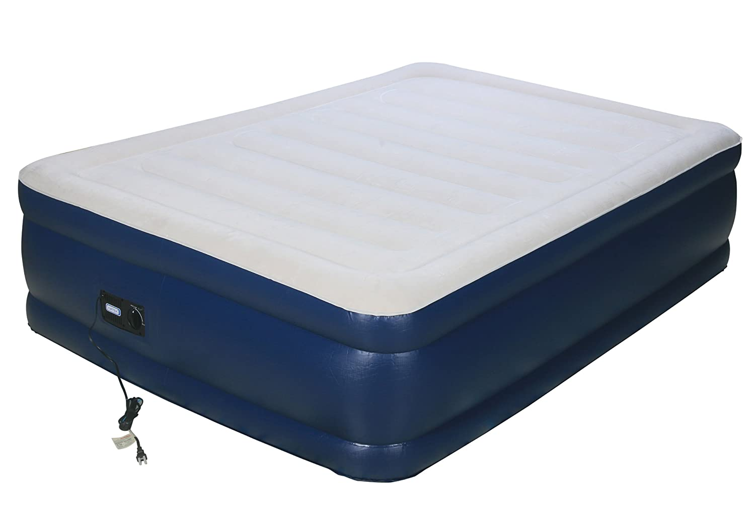 Airtek Full Keystone series Premium velvety Flocked top Air Mattress Airbed with Patented high-end Giga valve for ultra fast deflation, extra thick 2ABF04005 Interworld Commerce Inc.