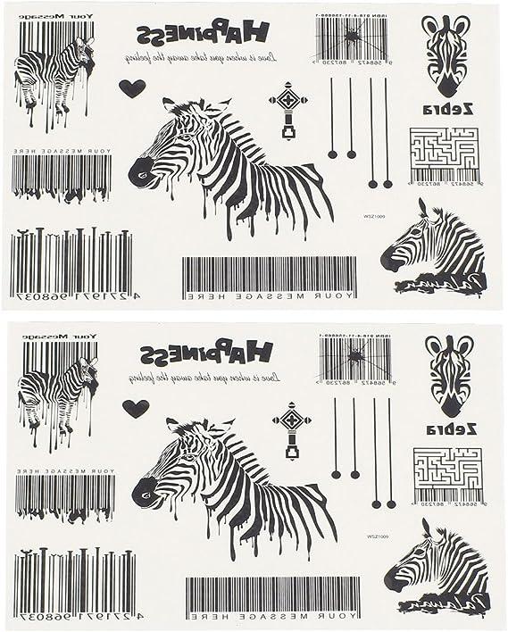 Zebra Código de Barras del arte de cuerpo etiqueta engomada ...