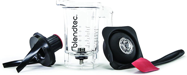 Blendtec Twister Jar (37 oz), Commercial-Grade Blender Jar, Thick Blends, Spectacula Spatula, Twister and Mini Gripper Lid, BPA-free, Clear