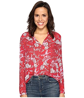 d02d1f463bda4 Lucky Brand Women s Red Floral Peasant Top at Amazon Women s Clothing store