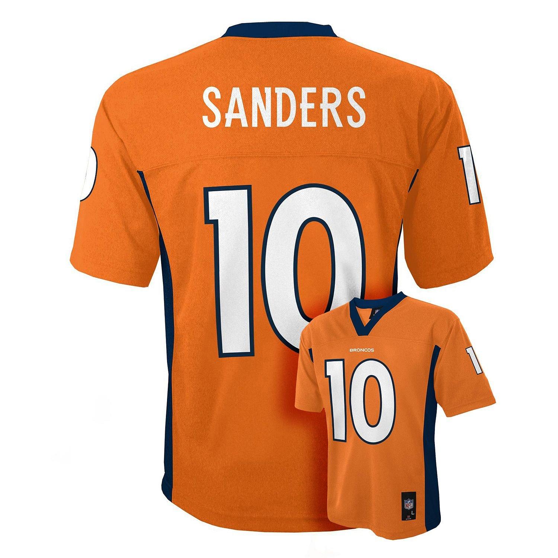 newest f88c3 5c134 Emmanuel Sanders Denver Broncos #10 Orange NFL Kids Home Mid Tier Jersey  Kids 5/6