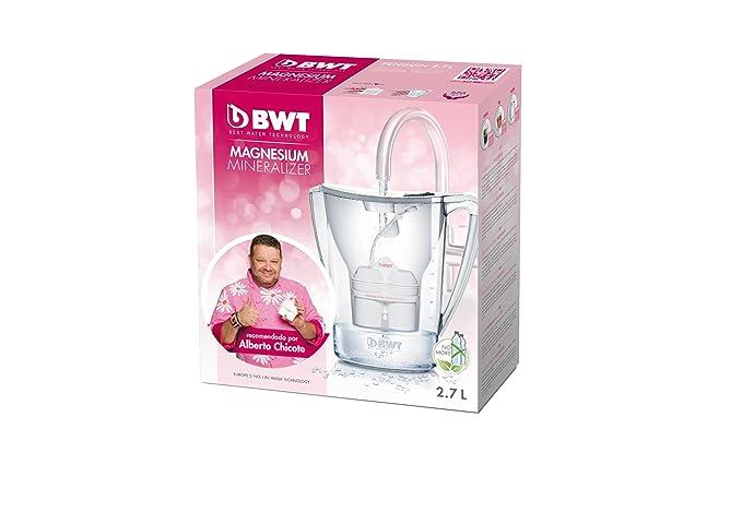 BWT Penguin Electrónica - Jarra filtradora de agua con magnesio 2,7 L Blanco: Amazon.es: Hogar