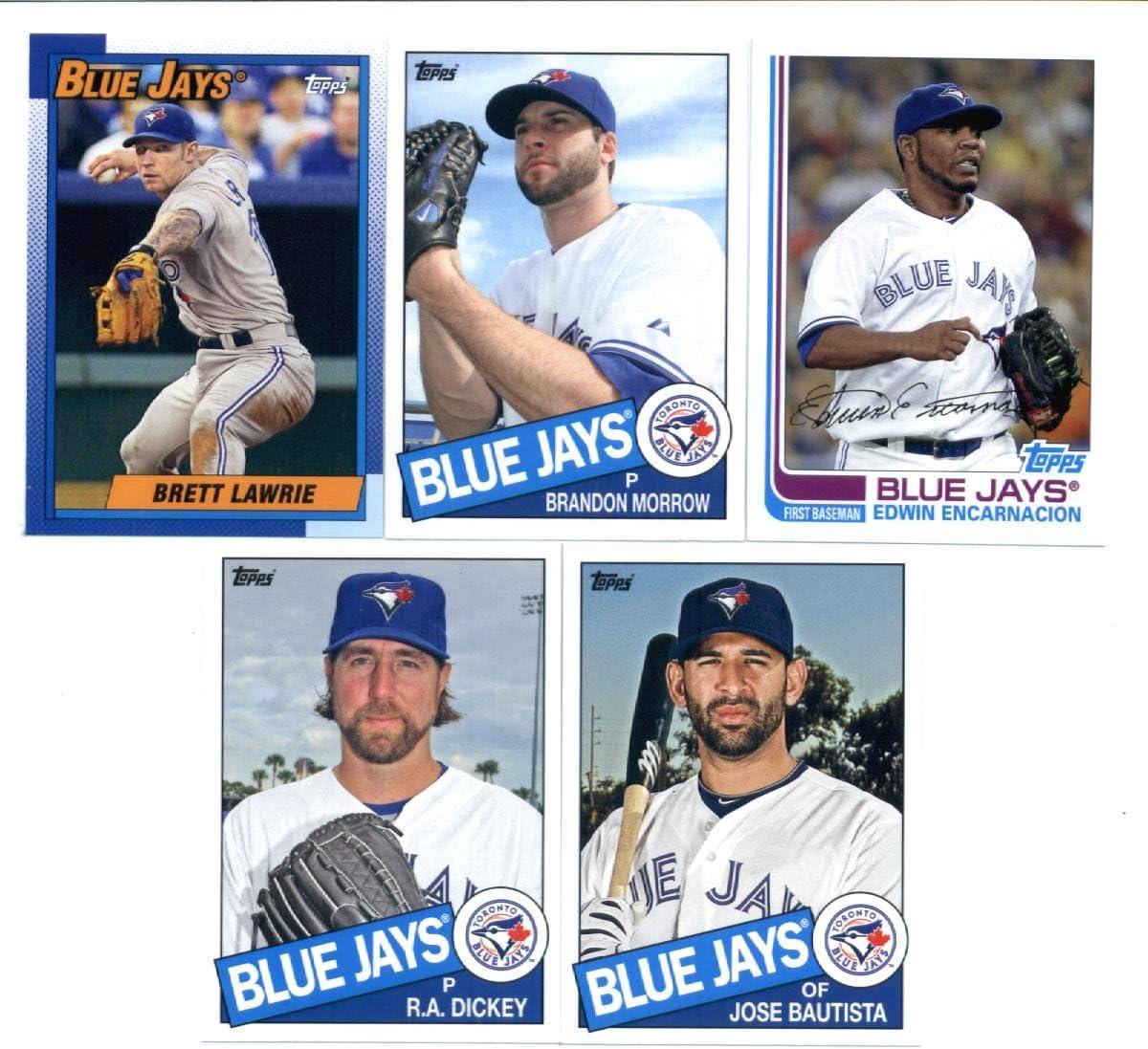 B00D64X5F4 2013 Topps Archives Baseball Cards Team Set (Storage Album) - Toronto Blue Jays (5 Cards) : Edwin Encarnacion Brandon Morrow R.A. Dickey Jose Bautista Brett Lawrie 71MCj-l4NeL