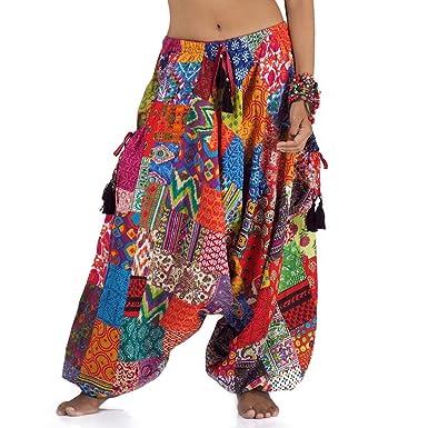 Princess of Asia Weite patchwork Hippie Hose Haremshose Aladinhose Pumphose  für Damen und Herren 7efa0c303f