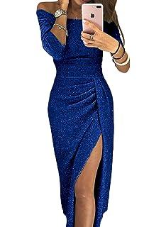 8bd480983 Aleumdr Mujer Falda Elegante para Fiesta Vestido de Noche Vestido de Moda  Size S-XL