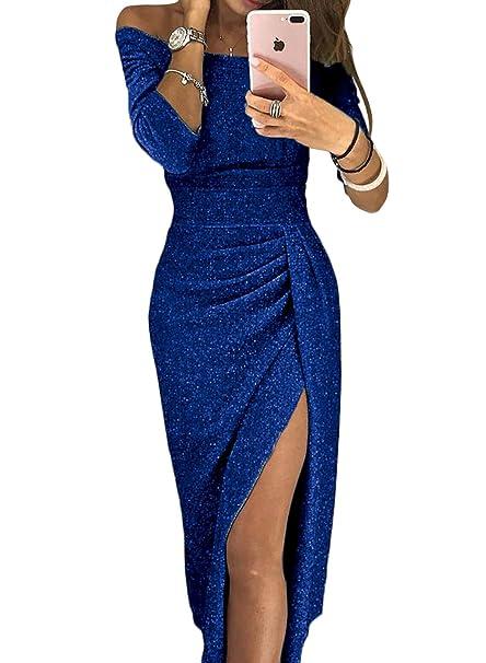 84c95e654 Aleumdr Mujer Falda Elegante para Fiesta Vestido de Noche Vestido de Moda  Size S-XL  Amazon.es  Ropa y accesorios