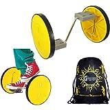 Acrobatic 2 roues Fun Wheels - parfait pour les enfants, les adultes + Flames N Games Sac de transport.