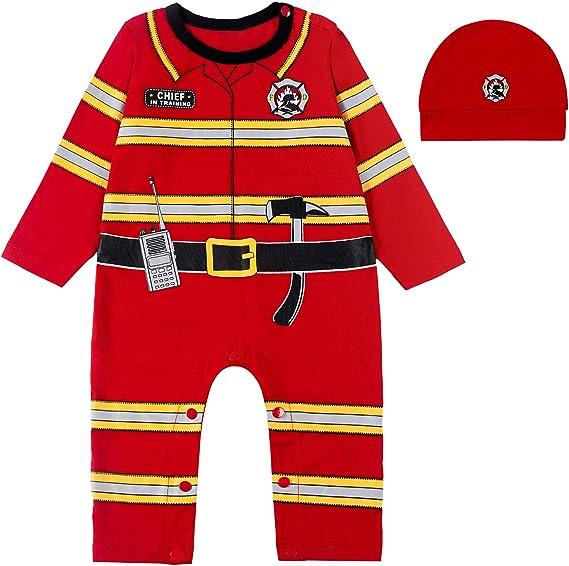 Paddy Field Baby Girls Boys Police Costume Bodysuit