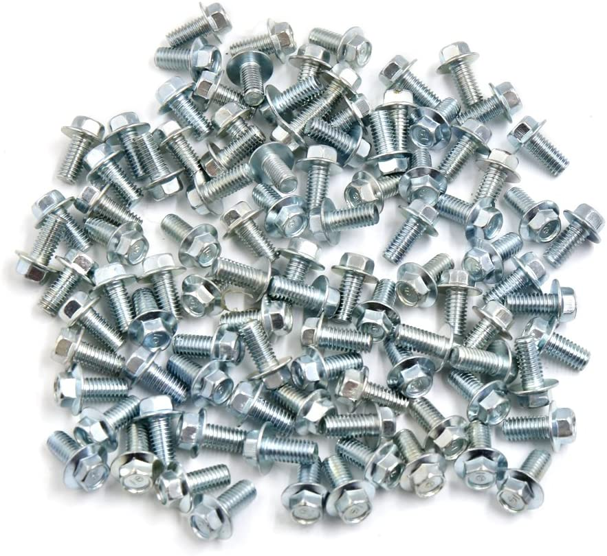 uxcell 100pcs 6mm Diameter Refit Hexagon Bolts Screws for Motorcycle Motorbike