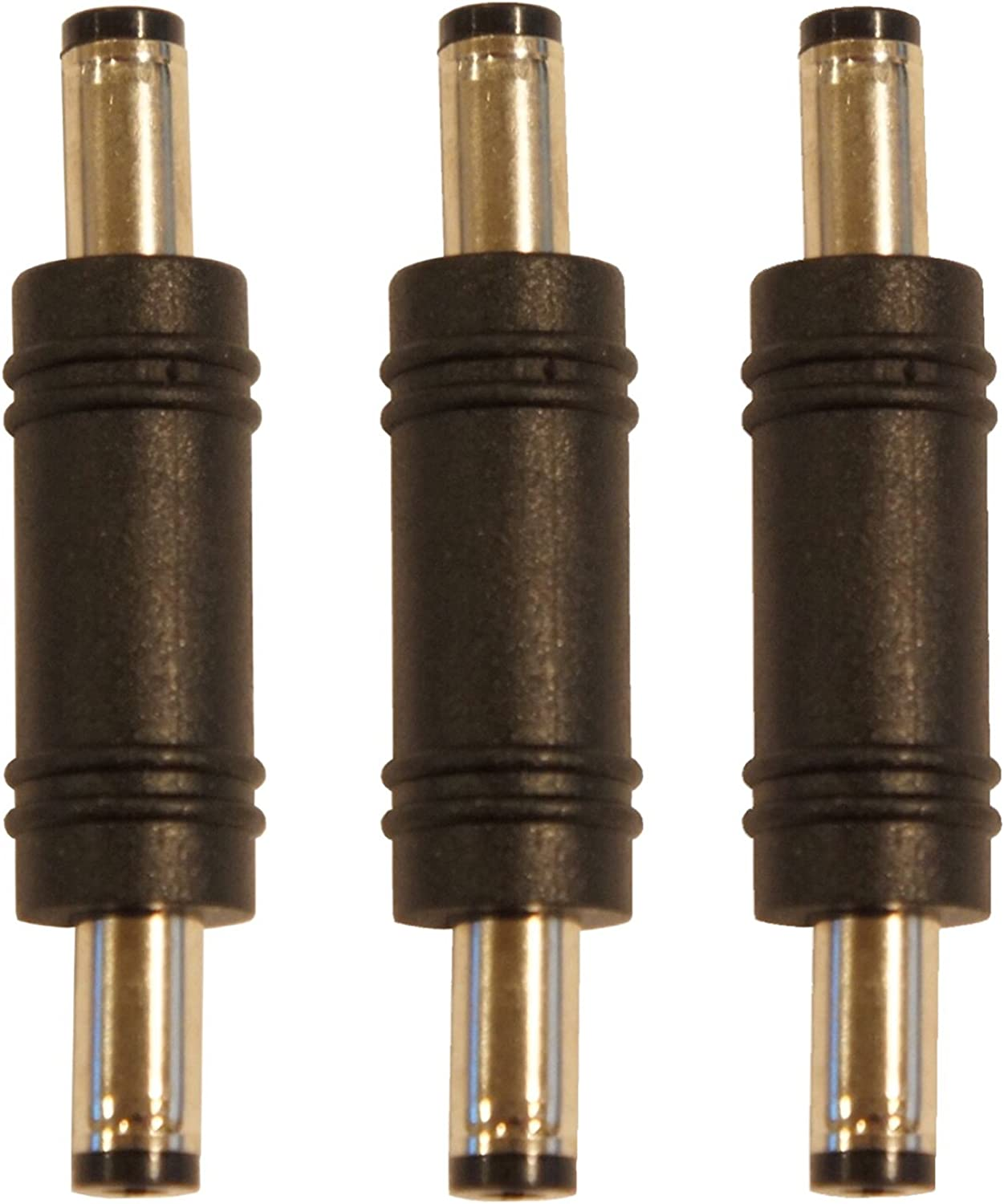 3 Pack of 2.1mm X 5.5mm DC Barrel Power Cable Male to Male Coupler Gender Adapter