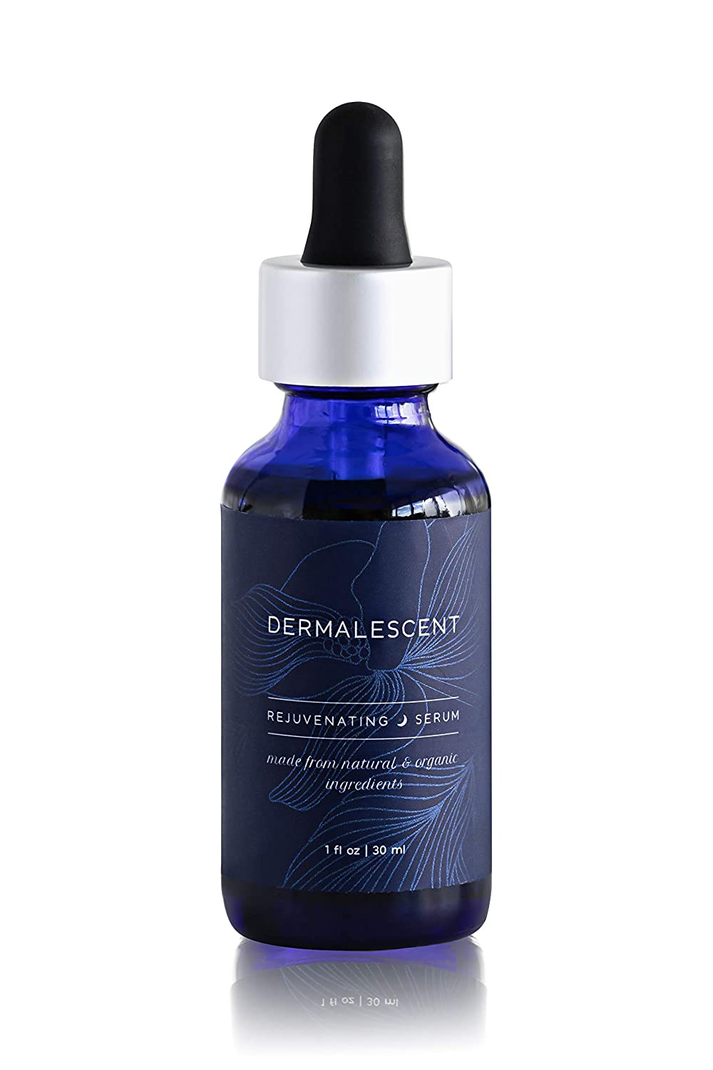 Dermalescent Antioxidant Serum for Wrinkles made from Organic Ingredients - Enhanced Facial Oil - Natural Anti Aging Skin Care with Vitamin E Vitamin C Serum Olive Squalane