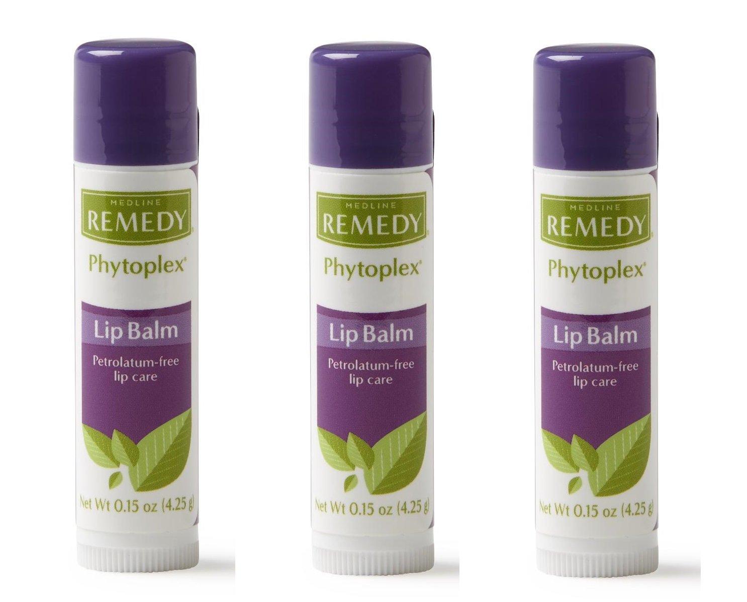 Medline MSC092915H Remedy phytoplex Lip balms (3 Packs) by Medline