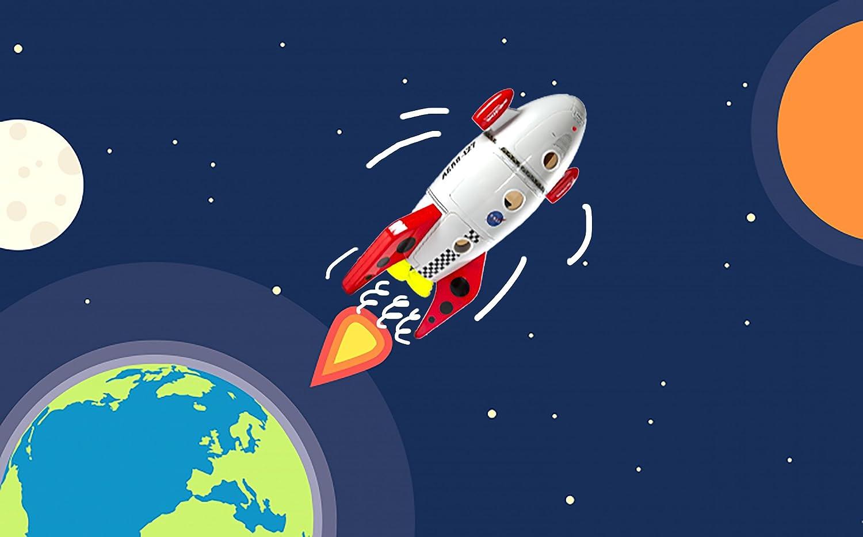 amazon com cp toys u2013 space mission rocket ship 7 piece playset