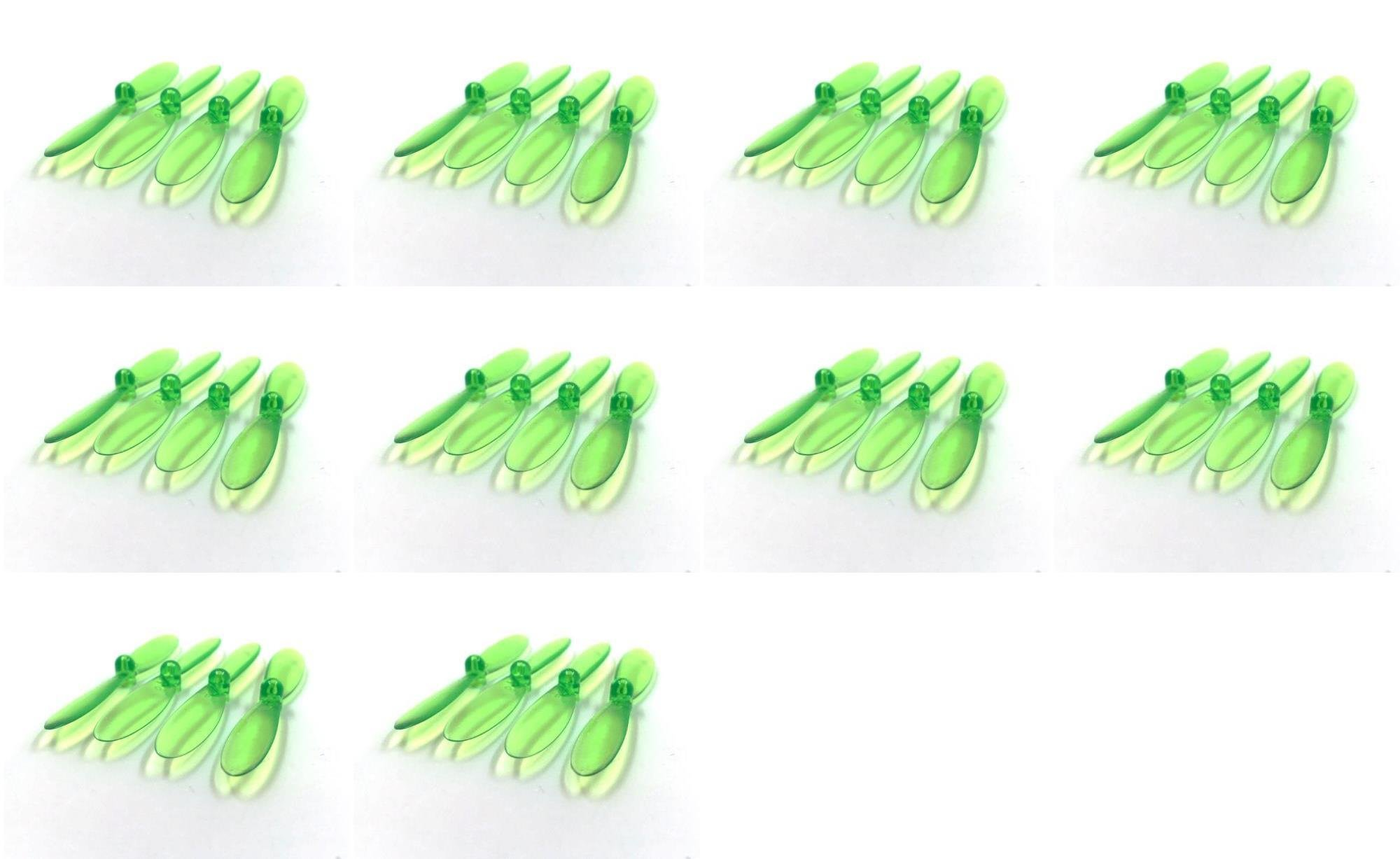 10 x Quantity of X-DART Quadcopter Transparent Clear Green Propeller Blades Props Rotor Set 55mm Factory Units