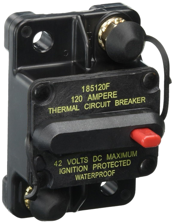 Circuit Breaker 1 Pack 120 Amp Bussmann BP//CB185-120 Waterproof High Amp Flush Mount Type III 3