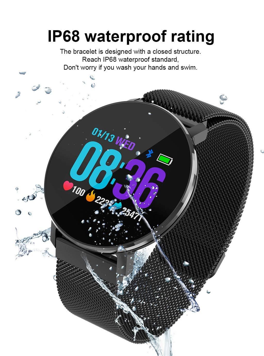 Webla T5 - Reloj inteligente para hombre y mujer, oxígeno, tensiómetro, monitor de frecuencia cardíaca, pulsera inteligente, negro: Amazon.es: Bricolaje y ...