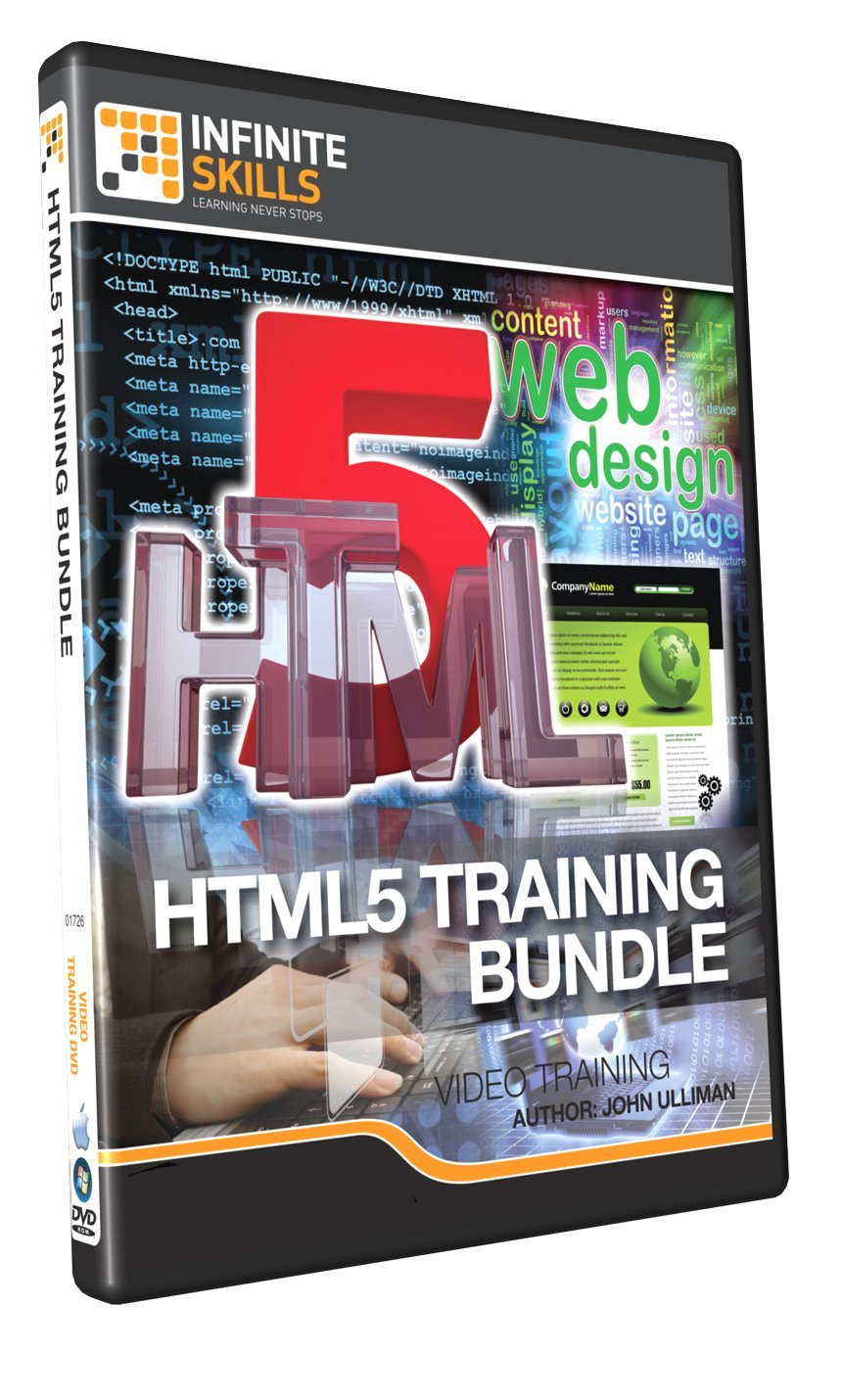 Discounted HTML5 Development Training DVD (14 Hours of Video Training)